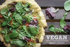 Love pesto and pizza? Why not have both with this Vegan Pesto Pizza!