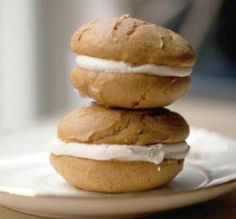 "Pumpkin Spice Whoopie Pies: ""Just about foolproof! We make these cookies every Thanksgiving season. They stay soft and moist, and the extra cream filling is wonderful on cinnamon french toast!"" -Jwally #UltimateThanksgiving"