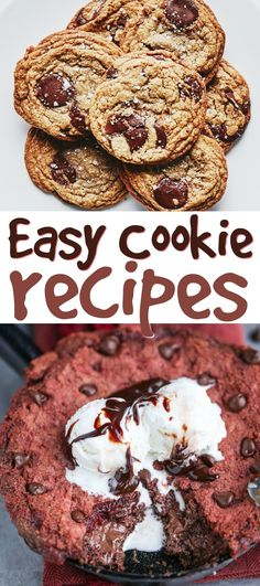 If you are looking for some Easy Cookie Recipes, this easy roundup  is definitely for you. You've got to try them! #dessert #cooking #recipes #easyrecipes #funrecipes #deliciousrecipes  #recipeideas #easyrecipeideas #yummyrecipes #cooking #cookies