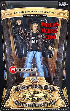 RINGSIDE COLLECTIBLES WWE Toys, Wrestling Action Figures, Jakks Pacific, Classic Superstars Action F: STONE COLD STEVE AUSTINWWE DEFINING MOMENTS 4WWE Toy Wrestling Action Figure