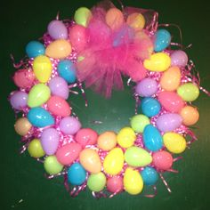 Easter Egg Wreath-we do have plenty of eggs ...