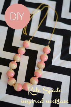 DIY Kate sSade inspired necklace