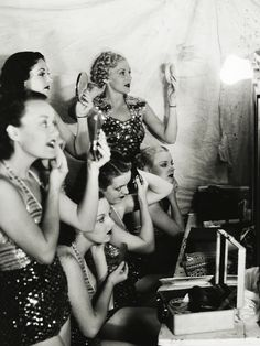 Chorus girls on the set of Star for a Night (1936)