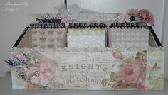 Lace Storage Box Using Pink Paislee London Market Paper - Kelly S - http://www.youtube.com/watch?v=aXpcQ0Sk1OM