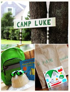 A Camping Theme Birthday Party