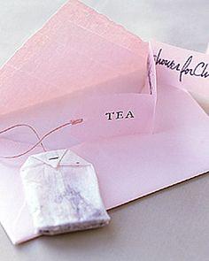 Tea Shower Invitations