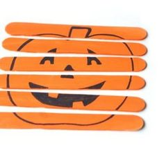 Pumpkin puzzle out of popsicle sticks