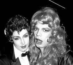 Mick Jagger and Jerry Hall. Photographed by Philippe Morillon, 1978.