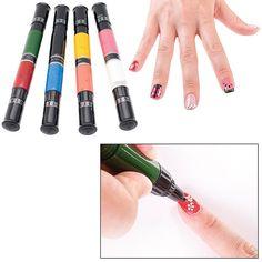 Hot tips nail art pen blue and gold glitter nails kids nail art