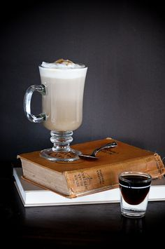 Whiskey Me Away: whiskey-brown sugar simple syrup, whiskey, coffee, whipped cream.