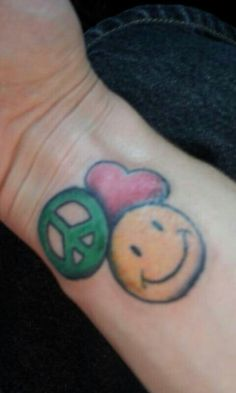 Tattoos body art on pinterest for Peace love happiness tattoo