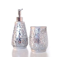 Crackle glass bathroom accessories bathroom for Crackle glass bathroom set