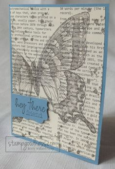 Swallowtail on First Edition Designer Series Paper - Stampin' Up!