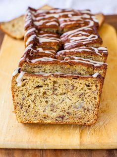 Banana Bread with Vanilla Browned Butter Glaze