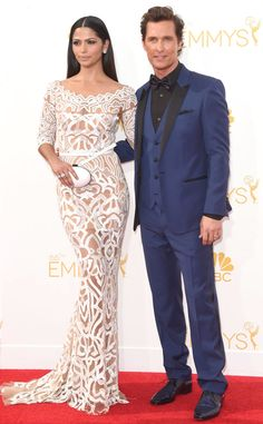 Matthew McConaughey & Camila Alves from 2014 Emmys: Red Carpet Arrivals   E! Online