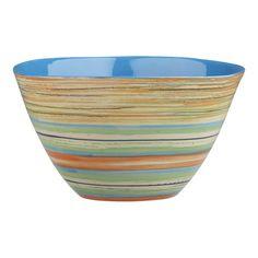 """6"""" Circa Bowl Aqua, Crate and Barrel"""