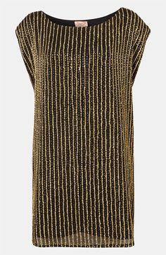 Topshop Embellished Shift Dress available at #Nordstrom