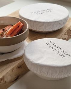 Instead of wrapping leftovers in plastic wrap, use machine-washable cotton covers.