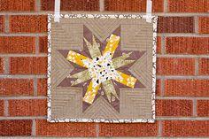 paperpiec star, star paper, art quilt, quilti inspir, quilt block, mini quilts, star mini, washington star, quilti happi