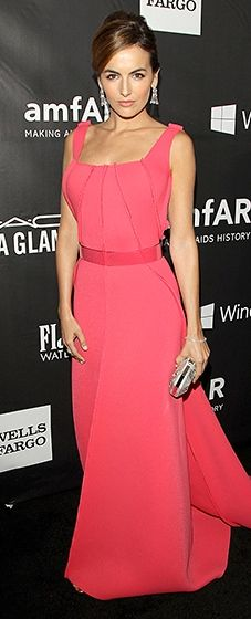 Camilla Belle looked lovely in a pink Carolina Herrera gown, with a sweeping train.
