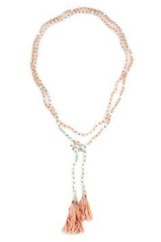 Doeskin Mix Lariat Tassel Necklace - Chan Luu