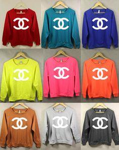 chanelth sweatshirt, fashion, style, cloth, colors, closet, wear, chanel sweatshirt, thing