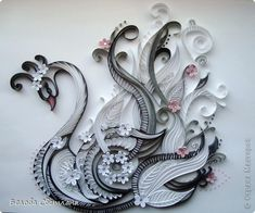 A beautiful, decorative swan - by: Svetlana Belova - Russian quilling artist -www.stranamasterov.ru/node/424054?k=all=68761