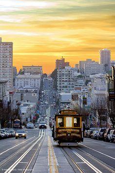 Sunset Down California Street