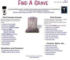 Find A Grave: http://www.findagrave.com/