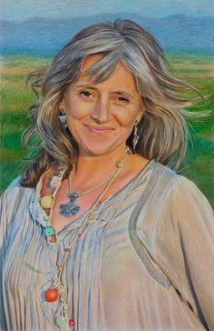 Color Pencil Portrait by Uriolus, via Flickr
