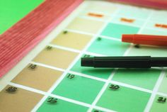 How to Turn Paint Swatches Into a Dry Erase Calendar -- via wikiHow.com