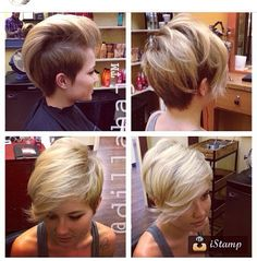 wow, awesome haircut! clay, pixie cuts, short haircuts, colors, hair cut, short hairstyles, undercut hairstyle, short cuts, thick hair