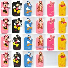 Cute Disney Cartoon Characters Soft Silicon Case Cover For Various Mobile Phones #OEM
