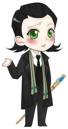 Chibi Loki. so cute!