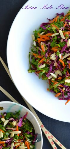 Asian Kale Slaw - Using kale's texture to its advantage, this slaw is crunchy and flavorful!