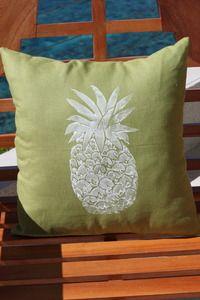 Avocado Single Pineapple Beach Decor Pillow