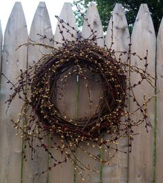 Grapevine wreath with berries