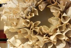 #DIY Tutorial: #Recycle Bookpage Wreath #upcycle #craft