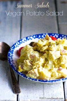 Summer Salad Series includes this delicious Vegan Potato Salad! #vegan #salads #picnic
