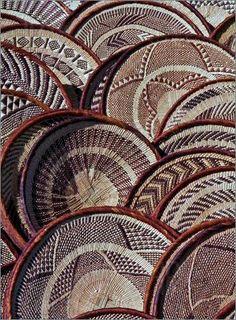 hand woven African basket