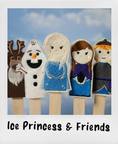 Ice Princess In The Hoop Finger Puppets pattern on Craftsy.com