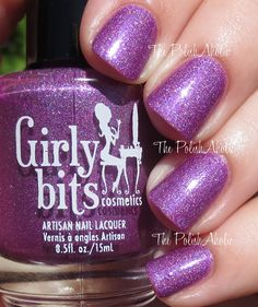 Ho-Ho-Hope is a bright fuchsia leaning purple holo, and it looks amazing on The Polishaholic! Grab yours at http://goo.gl/JWifH4 #PurpleHolo #nailpolish