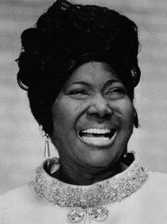 Mahalia Jackson, gospel singer.