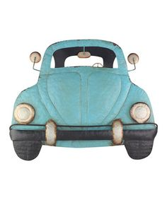 Look what I found on #zulily! Blue Metal Beetle Car Décor #zulilyfinds