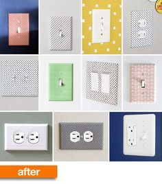 dress up your switch plates with washi tape!