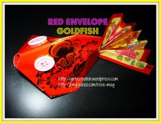 Chinese New Year decor - red envelope goldfish, upcycle red envelopes and make a super cute goldfish, good for party decor