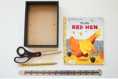 Poppytalk -  DIY: Playful Book Cover Photo Mat