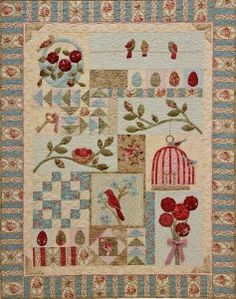Primitive Folk Art Quilt Pattern  Bird Haven by PrimitiveQuilting, $24.00