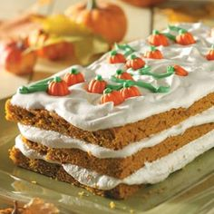 Pumpkin Patch Torte Recipe from Taste of Home