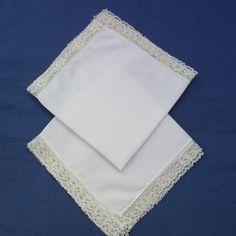 Ladies Hankies /  White Ladies Handkerchiefs / by WhimzyThyme, $10.00